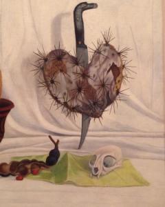 Sobre o amor e seus espinhos (Trecho de pintura de Olga Costa, artista plástica alemã, nacionalizada Mexicana. Atualmente em exposição no Instituto Tomi Ohtake/SP - Frida Kahlo - conexões mulheres surrealistas no México)